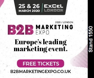 B2B Marketing expo 2020 banner