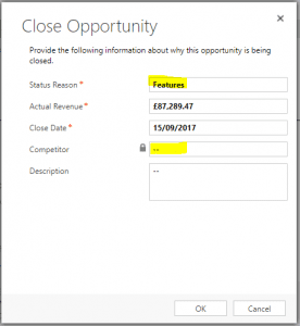 Opportunity Close Form