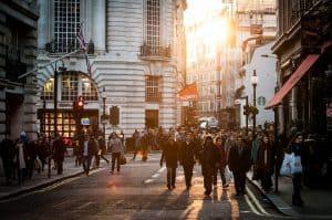 Crowded street London