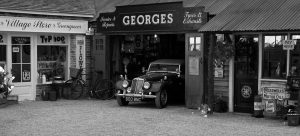 Old Car and Garage