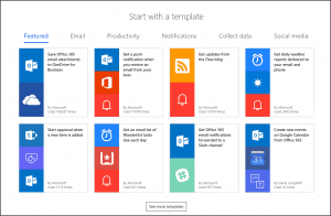 Microsoft Flow Templates