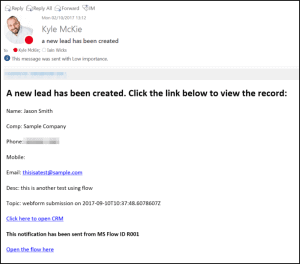 Advanced Sent Email for Microsoft Flow