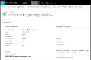 Dynamics GDPR Account Form