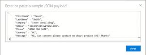 Microsoft Flow Parse JSON Payload