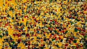 Crowd of Lego people GDPR