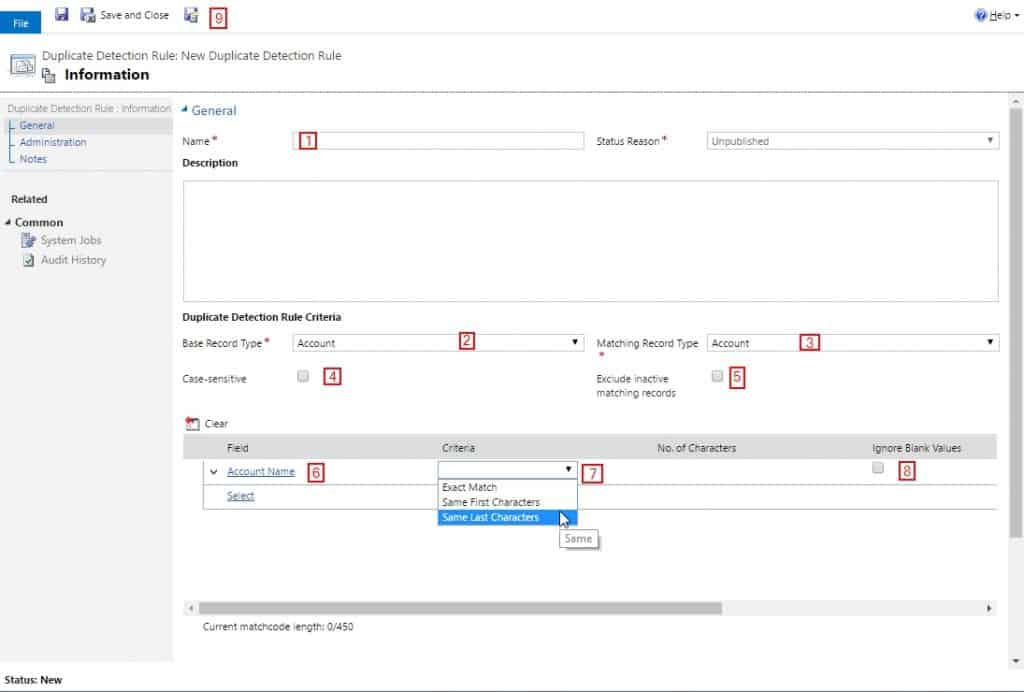 Dynamics 365 Duplicate Detection Rule Setup