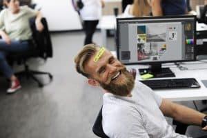 Happy employee training