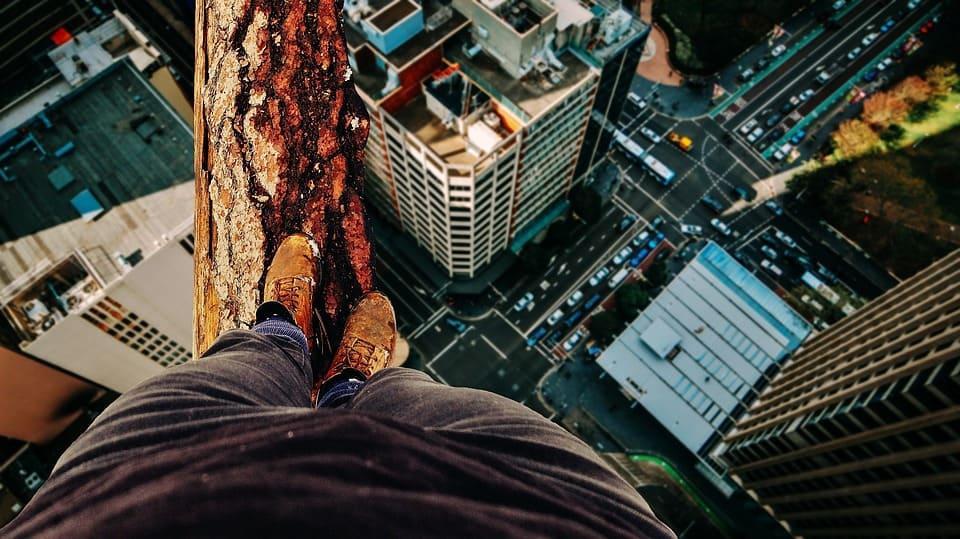balance risks high wire walking