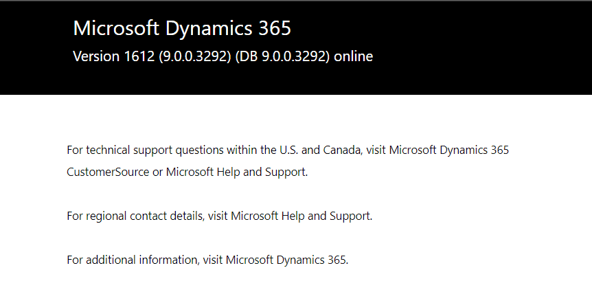 Dynamics 365 for Marketing Version