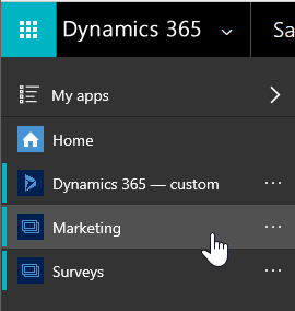 Dynamics 365 for Marketing App