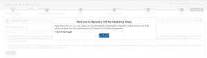 Dynamics 365 for Marketing First Run Experience P1