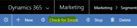 check for errors button