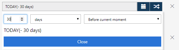 selecting dates option
