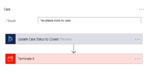 Microsoft Flow Close Case