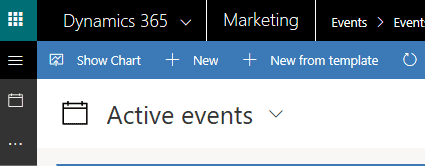 Ribbon bar on Dynamics 365 for Marketing