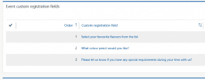 D365 For marketing Custom Event fields