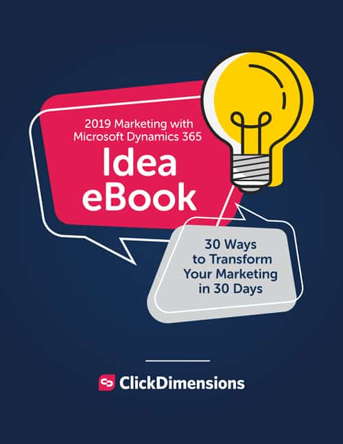 2019 Marketing with Microsoft Dynamics 365 ebook cover
