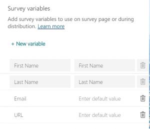survey variables grid
