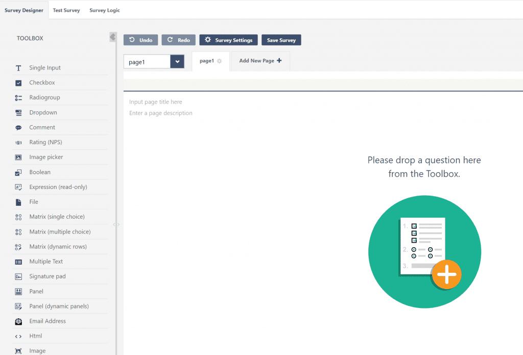 ClickDimensions new Survey tool design canvas