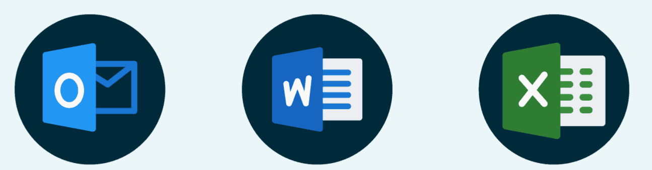 Office 365 suite icons