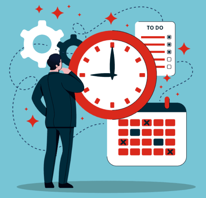 Icon for busy sales person