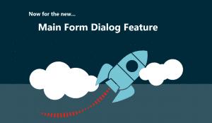 Main form dialog